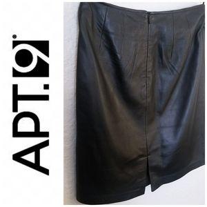 Black Leather Skirt | Apt. 9 | Women's 4